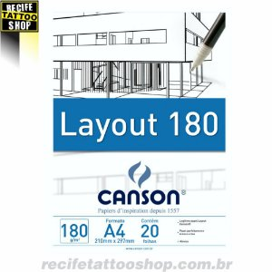 Papel em Bloco Layout Canson A4