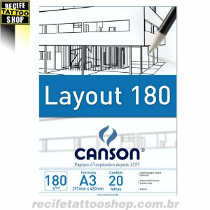 Papel em Bloco Layout Canson A3