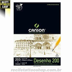 Papel Desenho 200 Canson - Creme A4