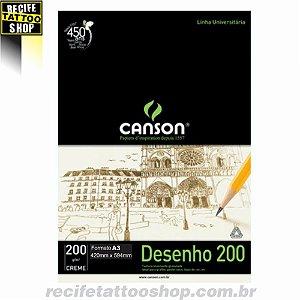Papel Desenho 200 Canson - Creme A3