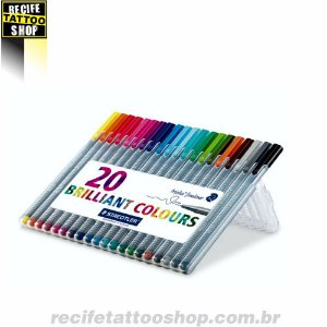 Caneta Staedtler Triplus Fineliner Brilliant Colours