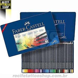 Estojo Metálico de Lápis de Cor Faber Castell Art Grip 36 Cores