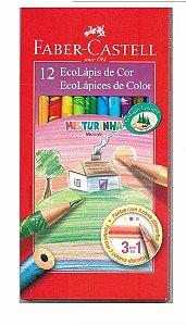 EcoLápis de Cor Misturinha Faber-Castell - Estojo com 12 Cores