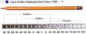 LAPIS KOH-I-NOOR GRADUADO 2H
