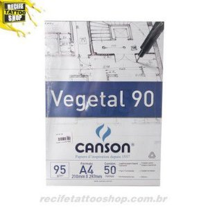 PAPEL CANSON EM BLOCO VEGETAL A4