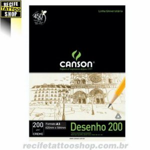 PAPEL CANSON EM BLOCO DESENHO A3 CREME