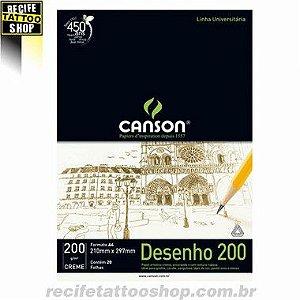 PAPEL CANSON EM BLOCO DESENHO A4 CREME