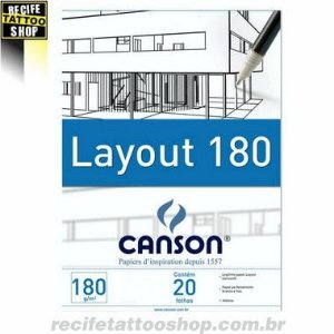 Canson® Bloco Layout  180 g/m²  A2