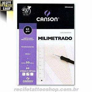 PAPEL CANSON EM BLOCO MILIMETRADO A4