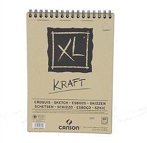 PAPEL CANSON EM BLOCO XL KRAFT A4