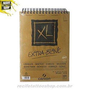 PAPEL CANSON EM BLOCO XL EXTRA BLANC A4