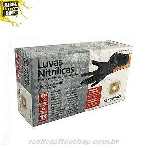 LUVA DESCARPACK NITRILICA PRETA G
