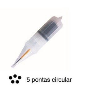 AGULHA FLOX ORQUIDEA 5 PONTAS CIRCULAR