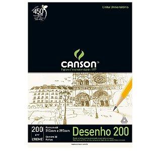 Canson® Bloco de Desenho Creme linha universitária 200 A4