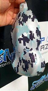 pelicula para water transfer printing modelo CAMUFLADO 800 tamanho 1mts x 50 cmts de largura