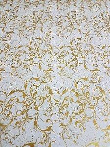 pelicula para water transfer printing modelo  arabesco ouro tamanho 1mts x 50cmts de largura