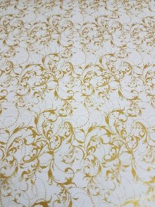 pelicula para water transfer printing modelo  arabesco ouro tamanho 1mts x 1 mts de largura
