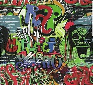 pelicula para water transfer printing modelo  grafitti rap  tamanho 1mts x 50 cmts de largura