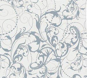 pelicula para water transfer printing modelo arabesco branco e transparente tamanho 1mts comprimento x 50 cmts largura