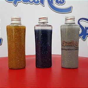 Metal flake AZUL  conteudo 60 ml - rendimento de 1 lata de verniz de 900ml