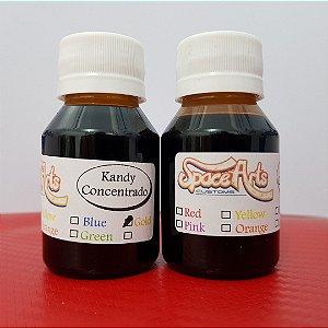 Z - CANDY  OURO  frasco conteudo 50 ml rende 900 ml de verniz