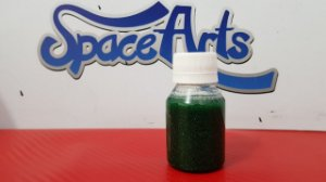 Metal flake VERDE  conteudo 60 ml - rendimento de 1 lata de verniz de 900ml