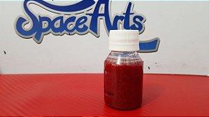 Z - Metal flake VERMELHO  conteudo 60 ml - rendimento de 1 lata de verniz de 900ml