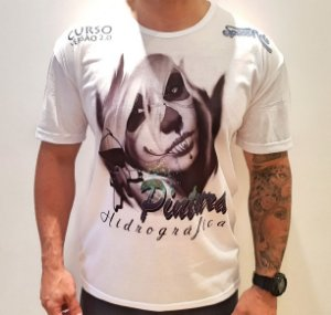 camiseta  space arts modelo  catrina - tamanho M - algodão - cor branca