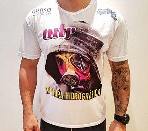 camiseta  space arts modelo  mascara - tamanho M - algodão - cor branca