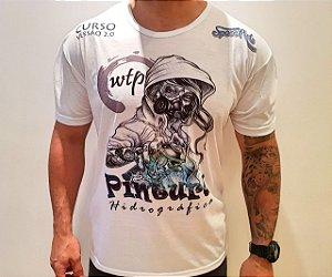 camiseta  space arts modelo  REBELDE - tamanho - M - algodão - cor branca
