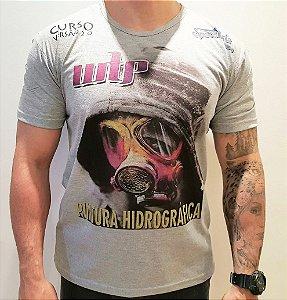 camiseta  space arts modelo  mascara - tamanho - G - algodão - cor cinza