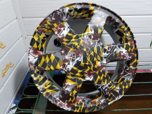 pelicula para water transfer printing modelo  TOP RACING  tamanho 1mts x 1 mts de largura