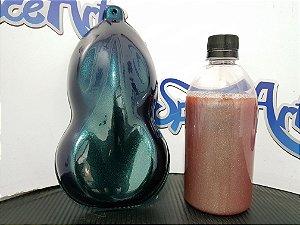 Tintas camaleão cor azul  com variaçoes de cores PINK - OURO - ROXO - VRMELHO -  conteudo 500 ml