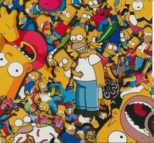 pelicula para water transfer printing modelo SIMPSONS exclusiva!!! 1mts x 50cm de largura