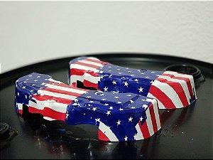 pelicula para water transfer printing modelo ESCUDO AMERICANO  tamanho 1mts x 50cm de largura