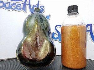 Tintas camaleão  com variaçoes DE COR  VERDE  - OURO - AZUL TURQUESA  conteudo 5OO  ml