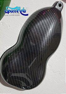 pelicula para pintura hidrografica modelo CARBONO CINZA COM TRANSPARENCIA  - tamanho de 1 mts de comprimento x 0,50 cmts de largura