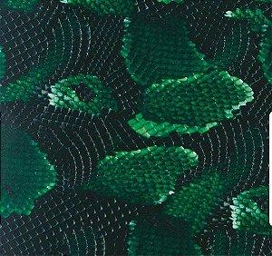pelicula para pintura hidrografica modelo couro cobra VERDE - TAMANHO 1 mts comprimento x 50 cmts largura