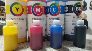 tintas pigmentadas  PARA IMPRESSORA A JATO DE TINTA eco tank ( KIT DE 4 CORES COM 70 ML CADA COR ) - LEIAM DESCRIÇÃO DO PRODUTO