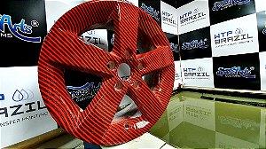 pelicula para water transfer printing modelo carbono VERMELHO  tamanho 1mts x 50 cmts de largura