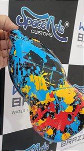 pelicula para pintura hidrografica modelo RESPINGOS  - tamanho de 1 mts de comprimento x 0,50 cmts de largura