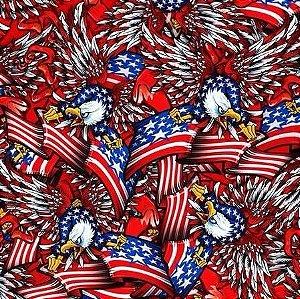 pelicula para water transfer printing modelo  bandeira americana com aguia tamanho 1mts x 50cm de largura