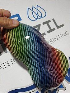 pelicula para water transfer printing modelo CARBONO COLORIDO  tamanho 1mts x 50cm de largura