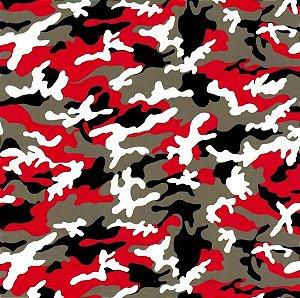 pelicula para pintura hidrografica modelo - CAMUFLADO RED tamanho 1 mts de comprimento x 0,50 cmts de largura