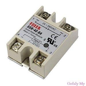 40A SSR entrada 3 - 32 V DC saída 24 - 380 V AC
