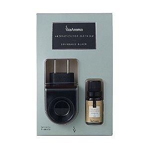 Aromatizador Standard Black com Essência 10ml - Gengibre e Mandarina