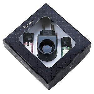 Kit Presente Aromatizador Standard Black e Essências - Bamboo e Peônia Garden