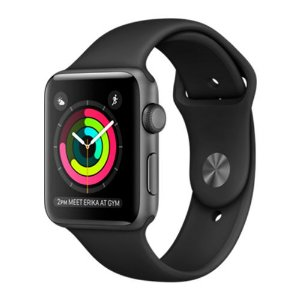 Apple Watch Series 2 42mm Caixa Cinza Espacial de Alumínio com Pulseira Esportiva Preta
