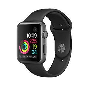 Apple Watch Series 3 42mm Caixa Cinza Espacial de Alumínio com Pulseira Esportiva Cinza (Gray)