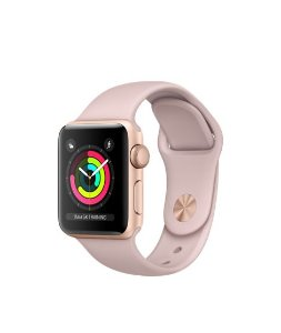 Apple Watch Series 3 38mm Caixa dourada e Pulseira rosa